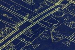 De Plannen van de architectuur Stock Afbeeldingen