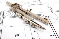 De plannen van de architectuur Royalty-vrije Stock Fotografie