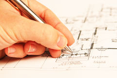 De plannen van de bouw Royalty-vrije Stock Foto's