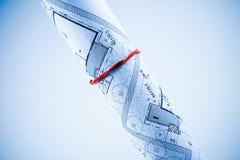 De Plannen van de bouw Stock Afbeelding
