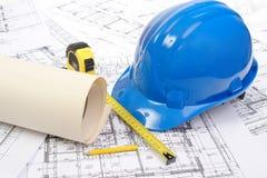 De plannen van de bouw Royalty-vrije Stock Foto