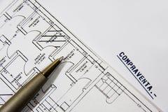 De plannen van de bouw Stock Afbeeldingen