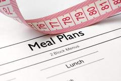 De plannen van de maaltijd Stock Foto's