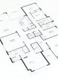 De Plannen van het huis Stock Afbeelding