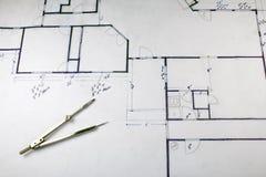 De Plannen van het huis Royalty-vrije Stock Afbeeldingen