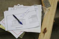 De Plannen van het huis stock fotografie