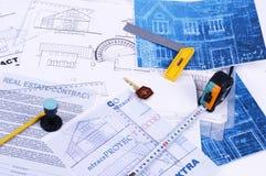 De plannen van het huis Stock Foto