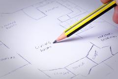 De plannen van het huis Royalty-vrije Stock Foto's