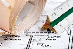 De Plannen van het ontwerp Stock Afbeeldingen