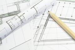 De plannen van het project royalty-vrije stock afbeeldingen