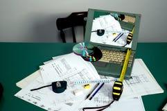 De planning van de architectuur Royalty-vrije Stock Foto's