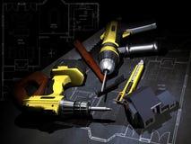 De planning van de bouw stock illustratie