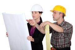 De planning van de bouw Stock Afbeeldingen