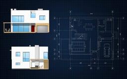 De planning van de bouw Stock Fotografie