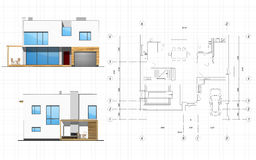 De planning van de bouw Royalty-vrije Stock Foto's