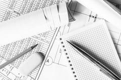 De planning van de ontwerpwerken, aan het schrijven van te doen wat royalty-vrije stock fotografie