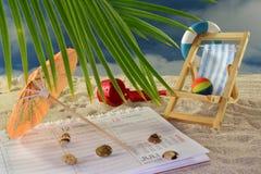 De planning van de vakantie Stock Afbeelding
