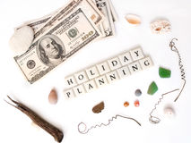 De planning van de vakantie royalty-vrije stock foto's