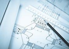 De planning van de weg stock foto