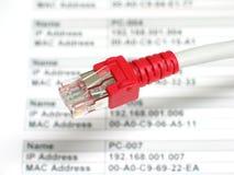 De planning van een netwerk stock foto's