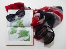 De planning van een reis in het Verenigd Koninkrijk stock foto's