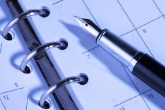 De Planning van het programma Stock Foto's