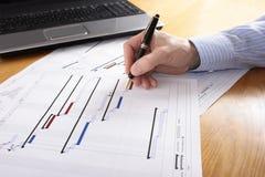 De Planning van het project Stock Afbeelding
