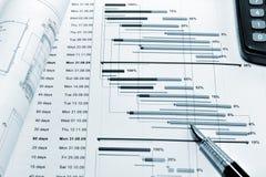 De planning van het project - blauwdruk Royalty-vrije Stock Foto's