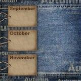 De planningsachtergrond van de kalender Stock Fotografie