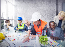De Planningsconcept van Working Office Meeting van de architecteningenieur stock foto's