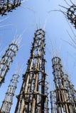 De Plantaardige Kathedraal in Lodi, Italië, omhoog tot gemaakt 108 houten kolommen waaronder een eiken boom is geplant Stock Afbeeldingen
