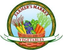 De plantaardige markt van de landbouwer Stock Afbeelding