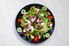 De Plantaardige Salade van de paddestoeltuin Royalty-vrije Stock Foto's