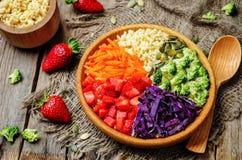 De plantaardige salade van de regenbooggierst Royalty-vrije Stock Foto's