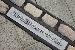De Plaque/de Teller van de Muur van Berlijn Stock Afbeeldingen