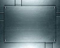 De plaque métallique photographie stock