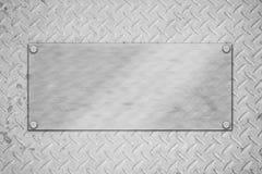 De plaque métallique Images stock