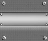 De plaque métallique avec Copyspace illustration libre de droits