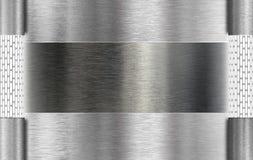 De plaque métallique avec des lampes de tube Image libre de droits