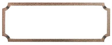 De plaque métallique avec des rivets Image libre de droits