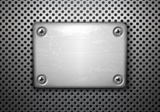 De plaque métallique avec des vis Image stock