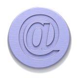 De plaque métallique avec l'email Photo stock