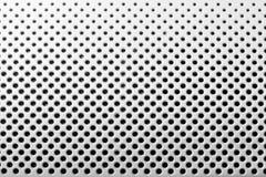 De plaque métallique avec les trous noirs Photos libres de droits