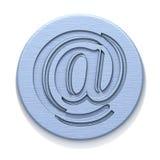 De plaque métallique avec un insigne Photo libre de droits