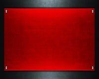 De plaque métallique rouge images stock