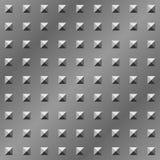 De plaque métallique texturisé de pyramide Photos libres de droits
