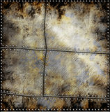 De plaque métallique avec des vis Images stock