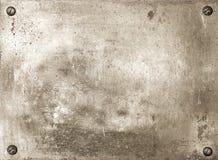 De plaque métallique en laiton brillant Photo libre de droits
