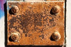 De plaque van het metaal Stock Foto's