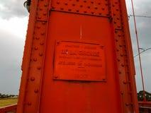 De plaque van de Necocheabrug royalty-vrije stock foto
